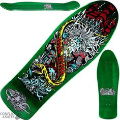 Santa Cruz Candy Metallic Emerald Jesse Neptune 2 - Inch Cruiser Deck for sale online Cruiser Skateboards, Old School Skateboards, Vintage Skateboards, Skate Decks, Skateboard Decks, Skate Art, Board Ideas, Skateboarding, Punk Rock