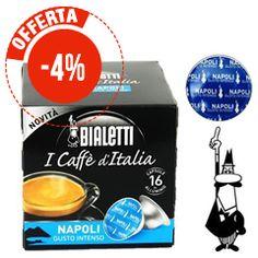 16 CAPSULE ALLUMINIO CAFFÉ BIALETTI MOKESPRESSO NAPOLI GUSTO INTENSO