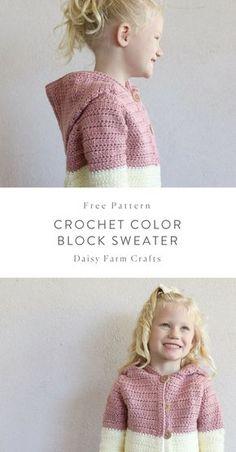 Ideas crochet cardigan free pattern kids for 2019 Crochet Toddler Sweater, Crochet Baby Sweater Pattern, Baby Sweater Patterns, Crochet Coat, Crochet Girls, Crochet Baby Clothes, Crochet For Kids, Crochet Shawl, Crochet Patterns