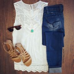 Love this lace top and color!