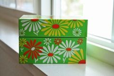 Vintage on Etsy - vintage retro flowers recipe box...