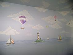 Hot air Balloon Murals,Mural, Children's wall murals, paintings in Miami, Fort Lauderdal