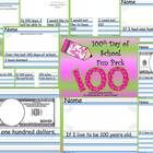 100th HUNDRETH DAY of SCHOOL 12 Pages of Writing Activities Common Core Aligned Kindergarten 1st 2nd Grade. Differentiated...by Kindergarten Korn...