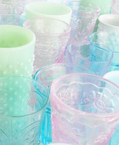 Pastel Colored Glasses - Such Pretty Things Blog. Color story