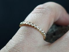 Diamond Band Engagement Ring Ferarelle Eternity Bubble Circle Bezel with Smooth Edge Custom SizeWhite-Yellow-Rose Gold-10k-14k-18k-Platinum by BellAmoreDesign on Etsy https://www.etsy.com/listing/236995993/diamond-band-engagement-ring-ferarelle