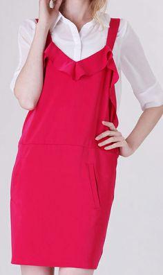 High waisted suspender skirt 6321