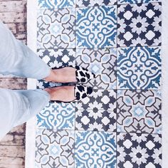 Love this combination of the flats and tiles
