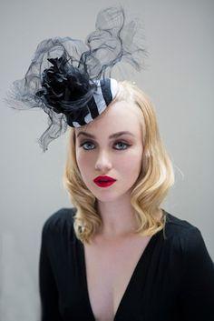 Olivia Roat Millinery | Polaris | Black and Pill Box Hats | LOVEHATS.COM
