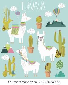 Find Set Cute Vector Alpaca Cactus Elements stock images in HD and millions of other royalty-free stock photos, illustrations and vectors in the Shutterstock collection. Alpacas, Illustration Cactus, Llama Clipart, Cactus Vector, Llama Alpaca, Illustrations, Free Vector Art, Textile Art, Creative Design