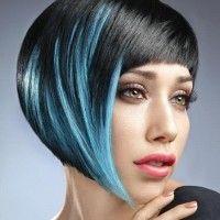 black-blue bob hairstyle