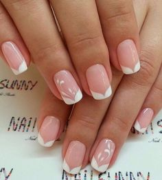 160 stunning minimal french nail art designs that are stylish yet sophisticated - 160 stunning minimal french nail art designs that are stylish yet sophisticated – page 9 ~ myhome - Gel Nails French, French Nail Art, French Nail Designs, Toe Nail Designs, Beautiful Nail Designs, Classy Nails, Stylish Nails, Cute Nails, Pretty Nails