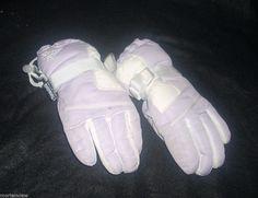 GIRLS PURPLE WHITE THINSULATE WINTER GLOVES SMALL 4-6X #Thinsulate #WinterGloves
