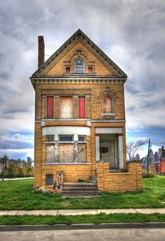 an abandoned home in the Brush Park historic district in Detroit