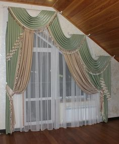 Pin by tami coffey on Windows in 2019 Dyi Curtains, Curtains For Arched Windows, Bedroom Windows, Hanging Curtains, Window Curtains, Arched Window Treatments, Window Coverings, Beautiful Curtains, Window Dressings