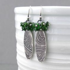 Hey, I found this really awesome Etsy listing at https://www.etsy.com/listing/263175506/chrome-diopside-earrings-dangle-silver