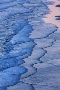 Abstract pattern of waves on the sand ~ photographer Byron Jorjorian #sea #ocean #beach
