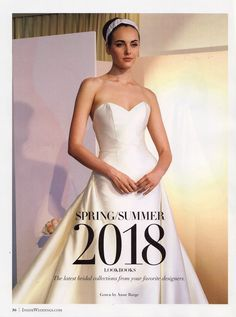 """""""Radziwill"""" wedding dress by Anne Barge   Featured in the Spring/Summer issue of Inside Weddings   Inspired by style icons of the 60s"""