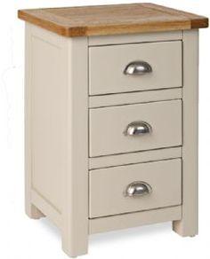 Oregan 3 Drawer Bedside Cabinet