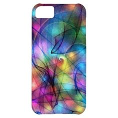 rainbow glowing lights iPhone 5C case zazzle