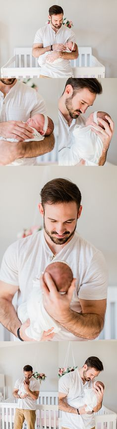 Daddy daughter newborn photos lifestyle newborn photography