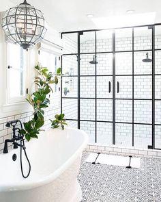 Magnificent Bathroom Design with Unique Shower Doors Dream Bathroom, Bathroom Decor, Amazing Bathrooms, House Bathroom, Bathrooms Remodel, Beautiful Bathrooms, Shower Doors, House Interior, Bathroom Design