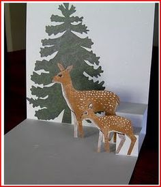 Project and Freebie: Pop Up Deer Card · Stamping | CraftGossip.com