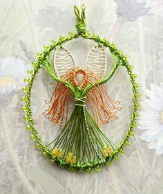 Spring Fairy original designer wirework pendant by LouiseGoodchild, £38.00