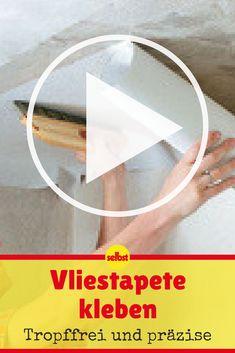 Decke Tapezieren Anleitung | Ratgeber: Bauen | Pinterest | Decke Tapezieren,  Tapezieren Und Innenwände