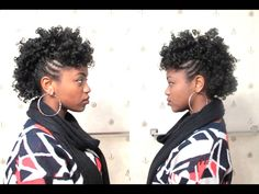 Curly Mohawk on 4C Natural Hair [Video] - http://community.blackhairinformation.com/video-gallery/natural-hair-videos/curly-mohawk-4c-natural-hair-video/
