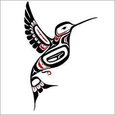 Northwest Coast Style Hummingbird Decal | WilsonGraphics - Housewares on ArtFire