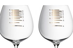 Glasses with musical etchings that will play notes when the top of the glass is rubbed add a pleasurable dynamic to meals.