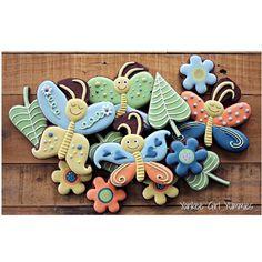 Butterflies and flowers! yankee girl yummies cookies