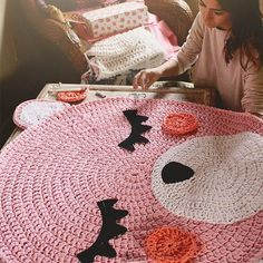 Adorable Crochet Pink Teddy Bear Right