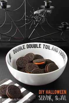 DIY Halloween Crafts : DIY Halloween Serving Bowl-