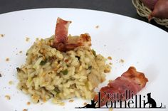 #Leek #risotto with crispy slices of #bacon and chopped #hazelnuts. Tasty first course for #Christmas dinner - Fratelli ai Fornelli