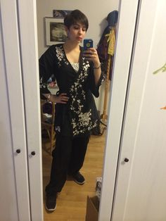 Today's outfit. Feeling a little piratey, if a heavily embroidered tunic is that.