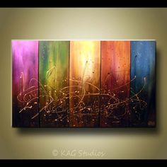 Extra Large Abstract Painting By Kag por kagstudios en Etsy Multiple Canvas Paintings, Multi Canvas Painting, Abstract Canvas Art, Photo Deco, Art Abstrait, Painting Inspiration, Diy Art, Art Images, Wood Art