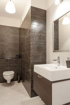 Beżowo-brązowa łazienka / Brown bathroom design.