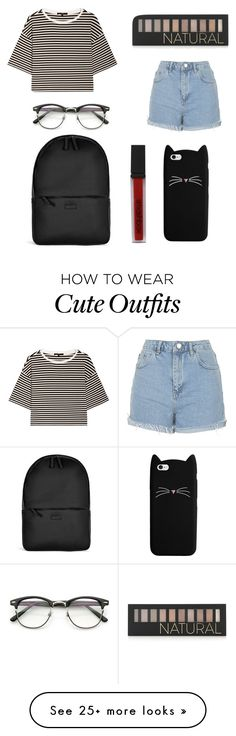 """School outfit idea"" by bodnariuc-iulia on Polyvore featuring TIBI, Topshop, Rains, Forever 21 and Smashbox"