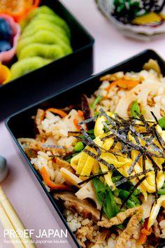 Japanse Strooisushi (chirashizushi) met aburaage   Proef Japan Bento, Japan, Ethnic Recipes, Food, Essen, Meals, Japanese, Yemek, Eten