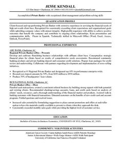personal banker cover letter example job pinterest cover