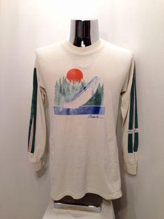 514dcbf5 Vintage EDDIE BAUER Pacific Northwest Long Sleeve HIKING Shirt Hiking  Shirts, Racing Stripes, Eddie