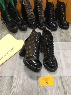 LV boots,please contact more designs and details. Welcome the wholesaler and reseller from globe. Lv Boots, Louis Vuitton Boots, Skor, Materialistic, Luxury Life, All Black Sneakers, Heeled Boots, Tuesday, Combat Boots