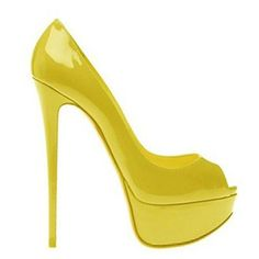 Christian Louboutin Pumps Yellow Lady Peep 150 Patent Leather $155.00  http://www.cheaplouboutinsbuy.com/sale/Christian-Louboutin-Pumps-Yellow-Lady-Peep-150-Patent-Leather--1216.html