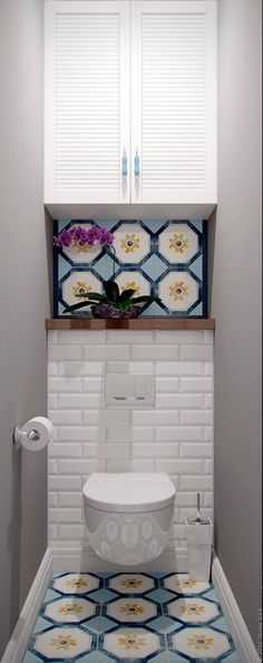 How to Create Bathroom that Fit Best Toilet Closet - Home of Pondo - Home Design Bathroom Wall Decor, Budget Bathroom, Bathroom Interior, Bathroom Ideas, Mirror Bathroom, Bathroom Makeovers, Remodel Bathroom, Simple Bathroom, Bathroom Cabinets