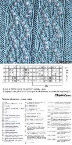 Knitting Patterns Ravelry The scheme for knitting number Lace knit. – Knitting with … Lace Knitting Patterns, Knitting Stiches, Cable Knitting, Knitting Charts, Lace Patterns, Knitting Socks, Stitch Patterns, Knitting Needles, Ravelry