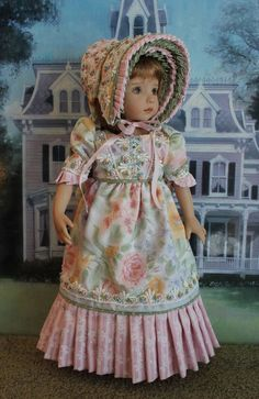 """Dianna Effner's 13"""" Little Darling """" COLOR ME PASTEL"""" Regency Gown #DiannaEffner"""