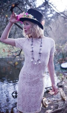 Shabby Apple's Mad Hatter 20s Inspired Dress