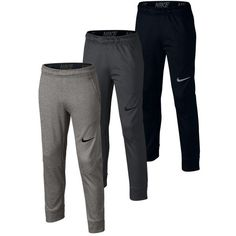 Play tennis, even on the coldest days in the Nike Boys' Therma Training Pants! This youth outerwear is the perfect cool-weather gear. The tapered design works together with the stretch waist and drawcords to achieve a slim, no-bulk fit just right for the court. You can stay warm and still focus on your footwork without distractions thanks to cuffs at the hem that help keep these pants comfortably in place.