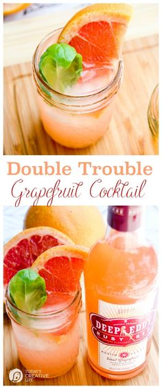 Double Trouble Grapefruit Cocktail | Summer Cocktails are the best! You'll love the crisp citrus taste of grapefruit for your ultimate summer cocktail. See the recipe on Today's Creative Life